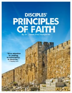 Disciples Principles of Faith - Student Workbook - front cover